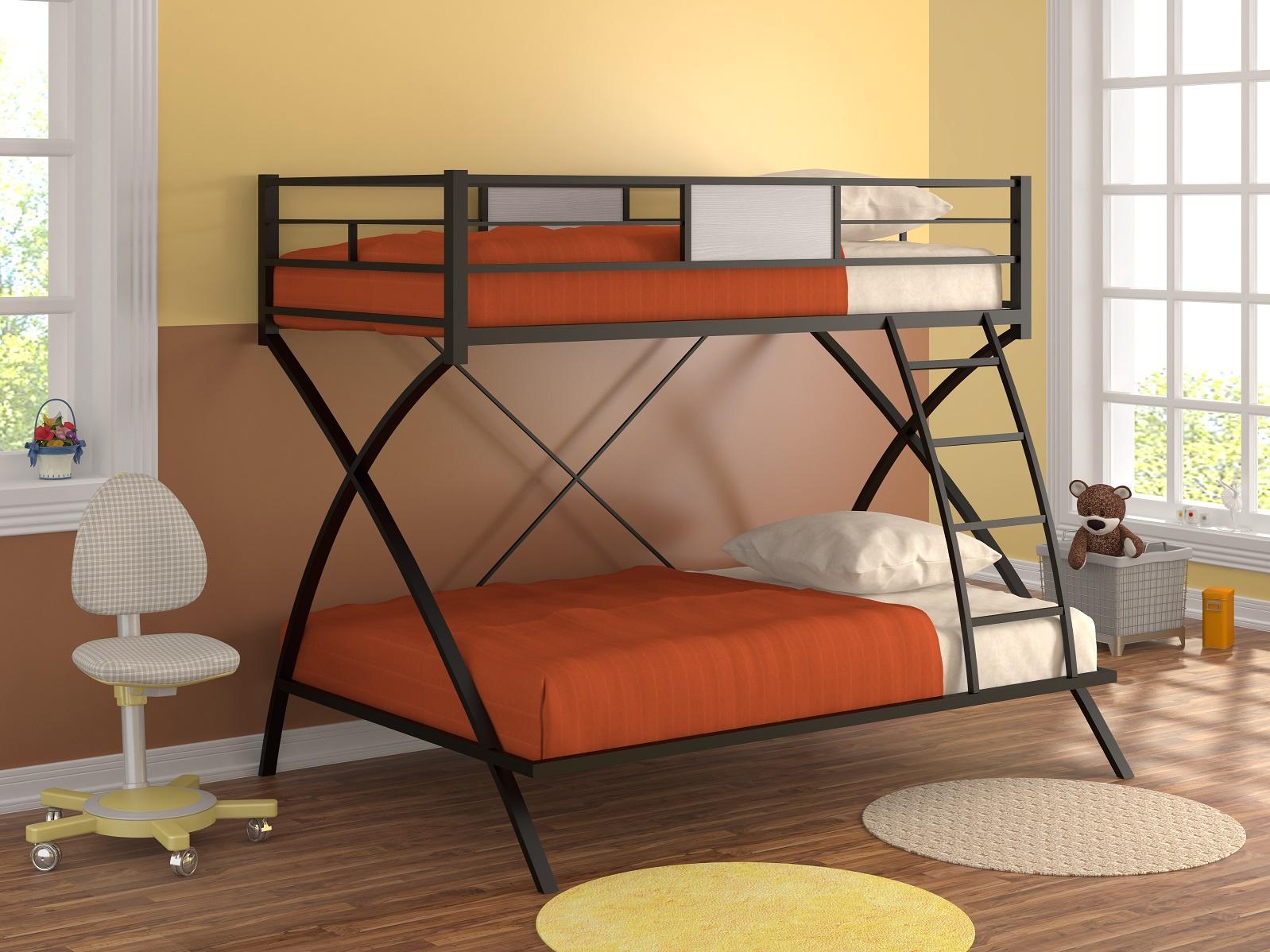 Металлическая кровать двухъярусная кровать