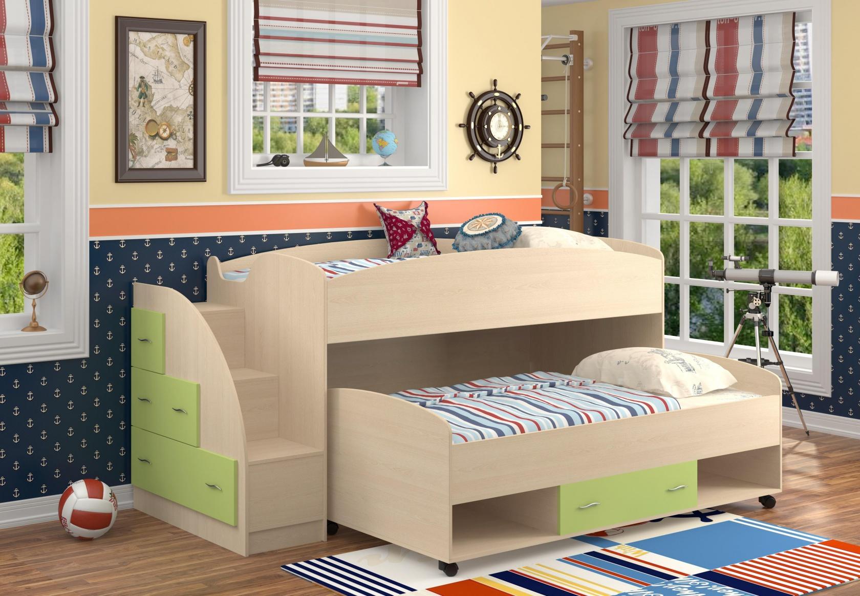 Двухъярусная кровать Дюймовочка