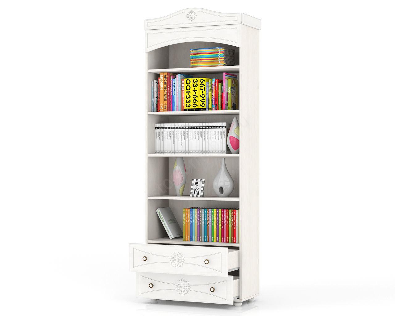 Шкаф книжный открытый онега шк-36 арт. шк-36 купить шкафы дл.