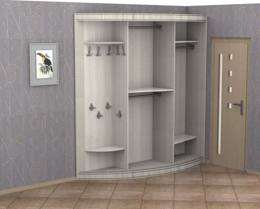 Ассимметричный радиусный шкаф-купе радион-рио арт. 10381 куп.